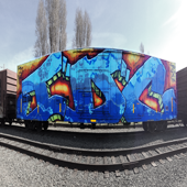 Graffiti Train Yard