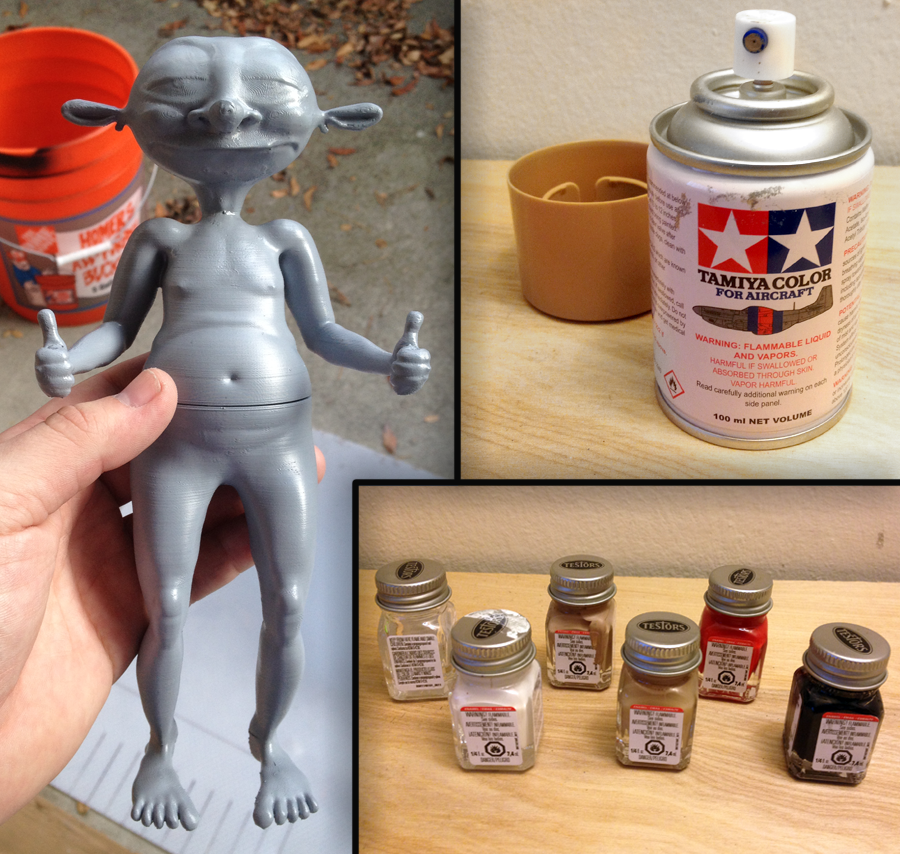 Oracle Figurine - Primed, and various paint