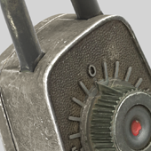 Antique Lock Render