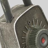 Antique Lock Render