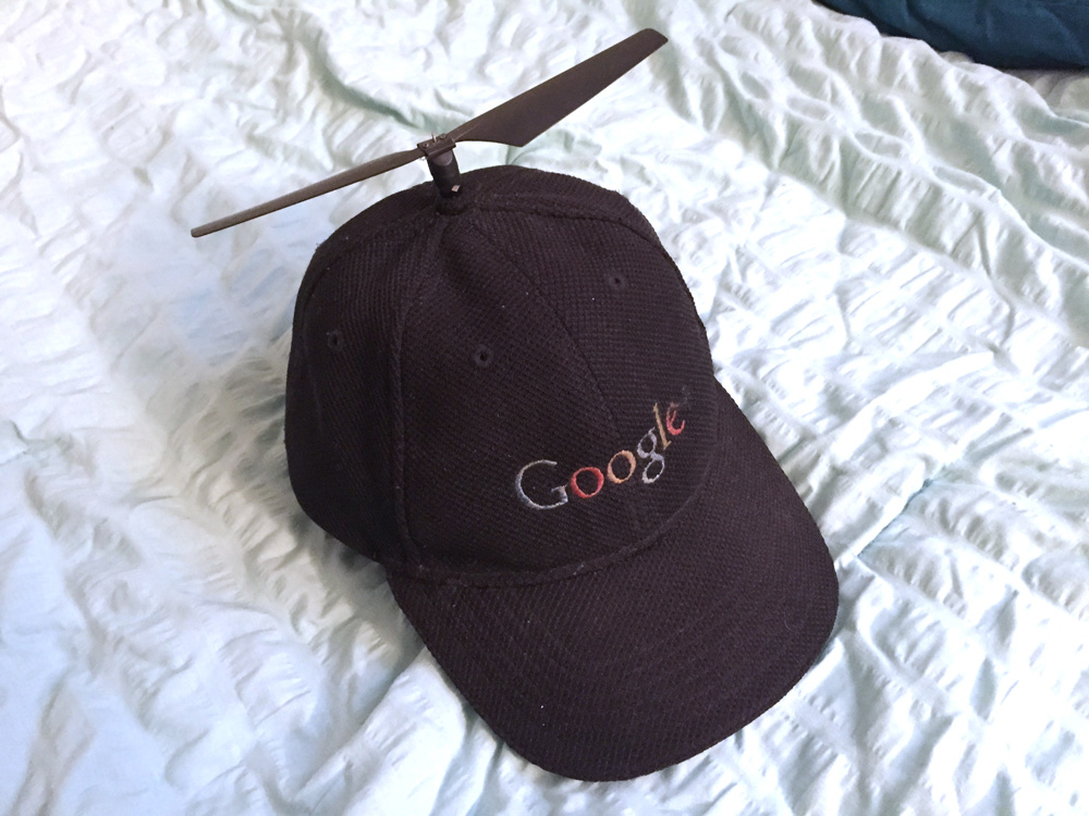 Custom Black Google Propeller hat