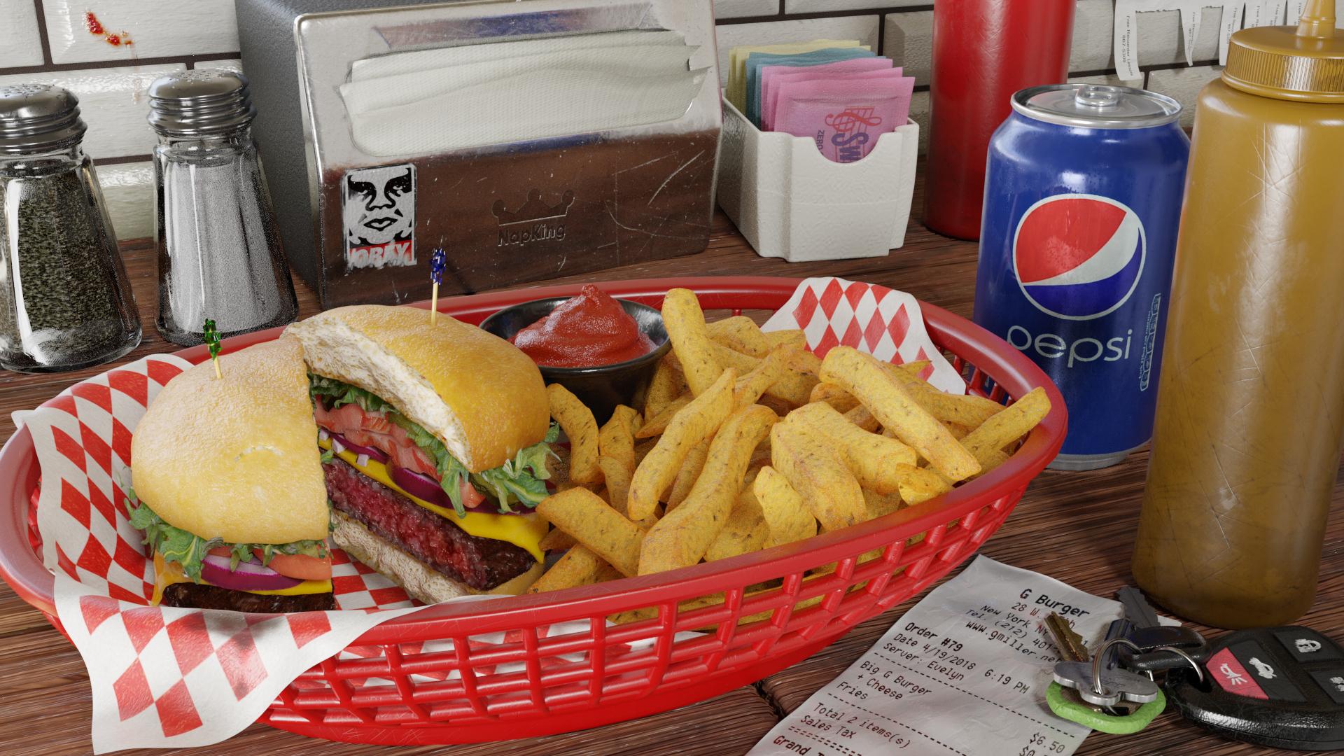 Burger Render